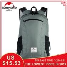 Купить с кэшбэком Naturehike 18L Tourist Backpack Waterproof Ultralight 120g Travel Bags 30D Nylon Silicon Outdoor Foldable Backpack Hiking Bag