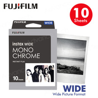 10 or 20 Sheets Fujifilm Instax Wide Film Black and white Monochrome For Fuji Instant Camera 300/200/210/100/500AF Photo paper