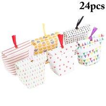 24Pcs Korean Version Of The Creative Wedding Candy Gift Box Custom Supplies Multiple Patterns