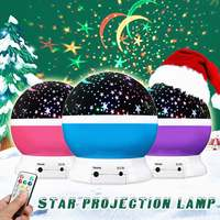 LED USB Projection Lights Rotating Projector Starry Night Light Sky Star Children Kids Baby Sleep Romantic Holiday Gift