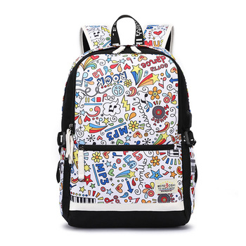 Cloth Shoulders Package Men And Women Lovers Flower Colour Both Leisure Time Package school bags for teenage girls mochila mujer