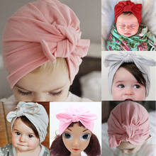 2019 Emmababy New 0-6y Newborn Baby Toddler Kids Girl Bowknot LOVELY Soft Cotton Beanie Hat(China)