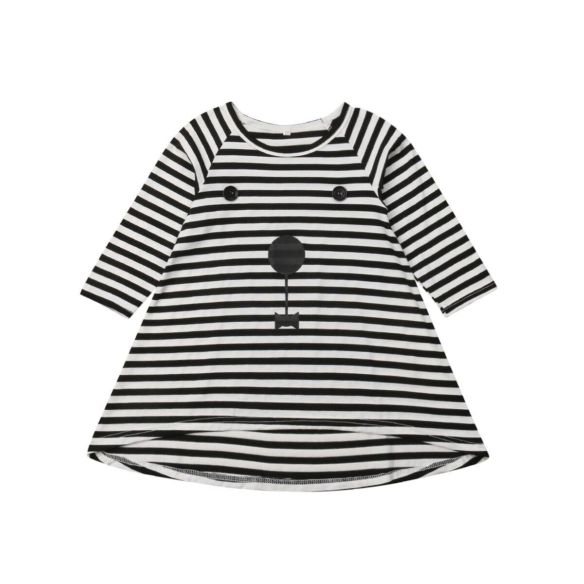0-3y Langarm Baby Mädchen Kleid Infant Neugeborenen Baby Mädchen Striped Casual Kleid Herbst Frühling Baby Mädchen Kleidung Husten Heilen Und Auswurf Erleichtern Und Heiserkeit Lindern