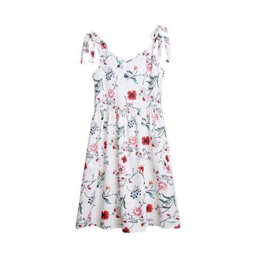 2019 été famille robe mère et fille correspondant fille tenues robes maman et fille correspondant vêtements coton 2