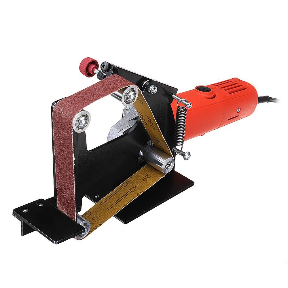 アングルグラインダーベルトサンダーアタッチメント金属木材サンディングベルトアダプタ使用 100 アングルグラインダー  グループ上の ツール からの 電動工具アクセサリー の中 1