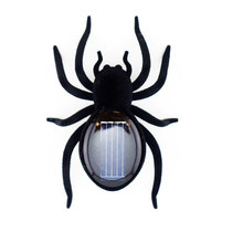 Realistic Creepy Solar Power Spider Toy Kids Adults Funny Joking Toy Prank Toy Halloween Gift For Treat Or Trick Solar Toys(China)