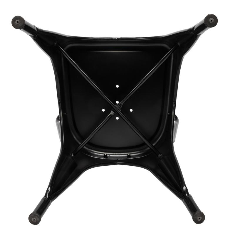 4pcs Retro Industrial style Iron Sheet Chair Black Chair Lacquer Process Home Restaurant And Bar in Bar Chairs from Furniture