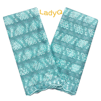 2019 New Aqua Green French Lace Flower Embroidery Nigerian Lace Fabric 2019 High Quality Swiss Beaded Latest African Laces 2018