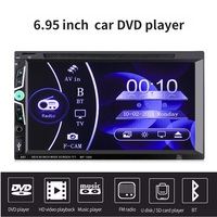 MP1569 2 Din 6.95'' Car DVD Player Bluetooth Car Stereo HD Touch Screen Multimedia Player Handsfree FM Radio With Remote Control