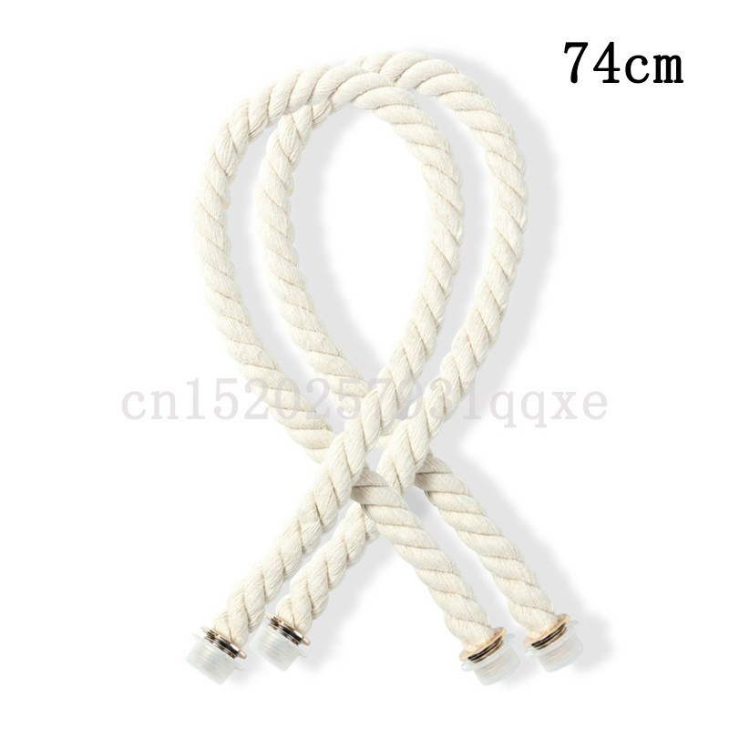 1 Pair 74cm Obag Rope Handle Strap Italy Style DIY Removable Women Obag Handles Lnner Bag Matching