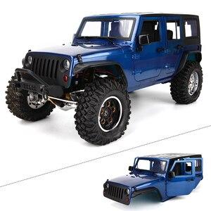 Image 4 - Demonte 12.3 inç 313mm dingil mesafesi vücut araba kabuk için 1/10 RC paletli jeep Cherokee wrangler eksenel SCX10 ve SCX10 II 90046 90047