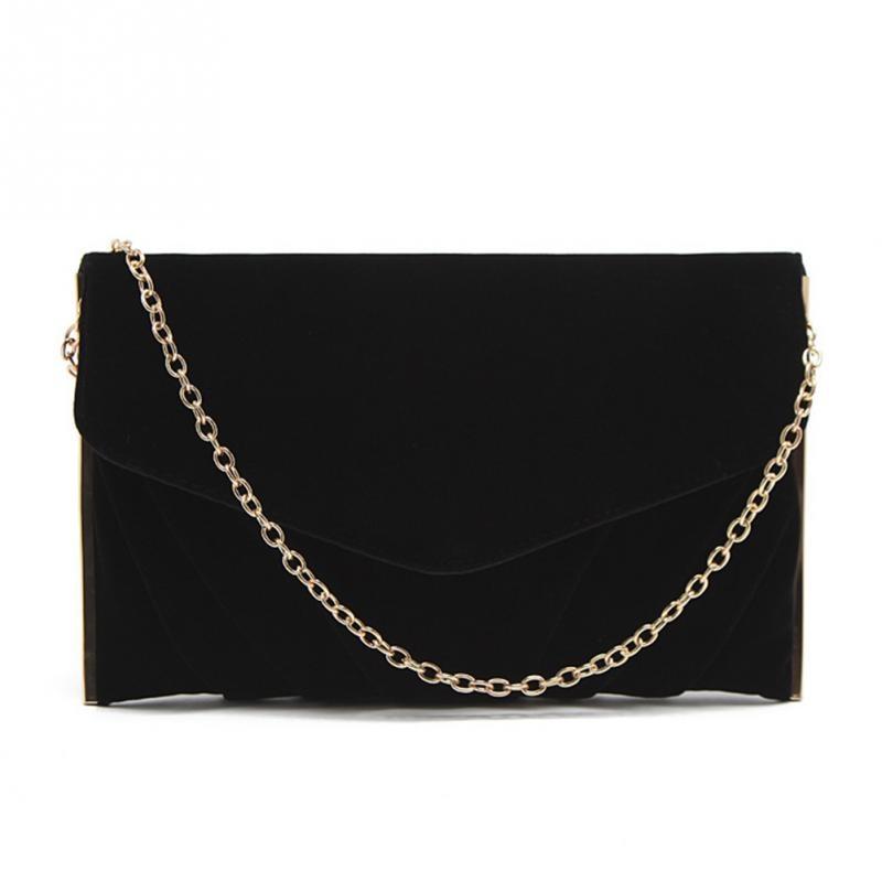 Women Luxury Bags Designer Velvet Envelope Clutch Bag Bolsa Feminina Metal Chain Strap Shoulder Bag Female Small Party Bag #11 цены