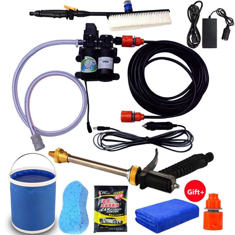 Lave-Auto Gu n pompe 12 V nettoyeur haute pression soin double pompe lave-linge électrique pompe de lavage automatique Spay Gu n outil d'entretien