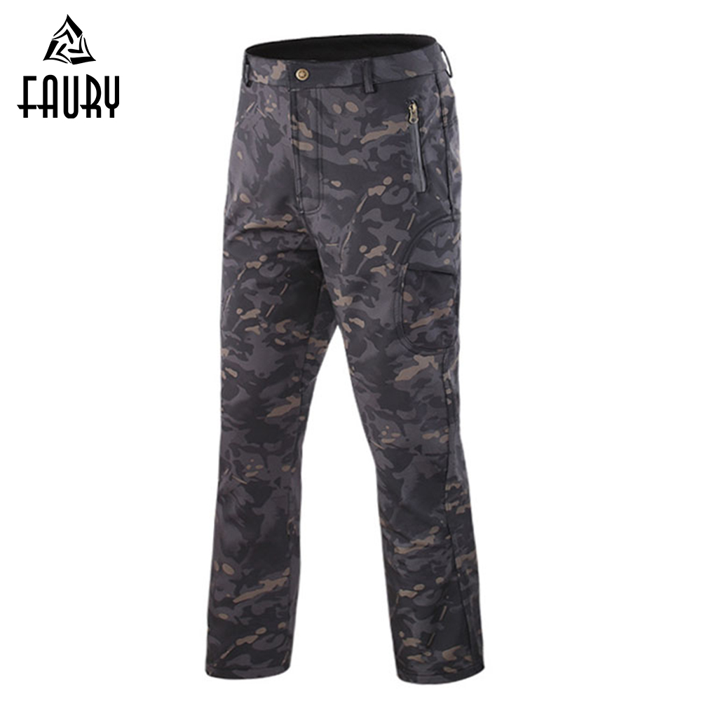 Men Minlitary Pants New Winter Tactical Waterproof Fishing Hunting Soft Shell Hiking Military Pant Army Camping Trousers