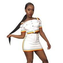 купить Sexy Women Two Piece Set Summer Skirt Set Off Shoulder Crop Top Mini Skirt Suit 2 Piece Matching Set Outfit дешево