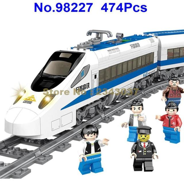 US $34 91 14% OFF|98227 474pcs Battery Powered Electric Train High speed  Rail Diy Kazi Building Blocks-in Blocks from Toys & Hobbies on  Aliexpress com