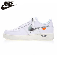finest selection 28ac7 d60e7 Nike Air Force 1 OFF WHITE COMPLEX CON AF1 Men s Skateboarding Shoes  Breathable Wearable Lightweight Sneakers  AO4297-100