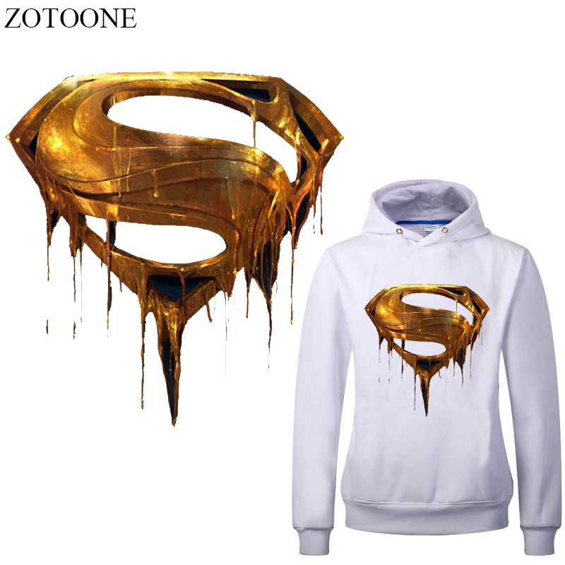 ZOTOONE Superhero Iron On Patches For Parent-child Clothing Heat Transfer Vinyl Stickers Clothes Diy T-shirt Thermal Press E