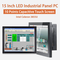 15 Inch LED Industrial Panel PC,Intel Celeron 3855U,Windows 7/10/Linux Ubuntu,10 Points Capacitive Touch Screen,[HUNSN DA08W]