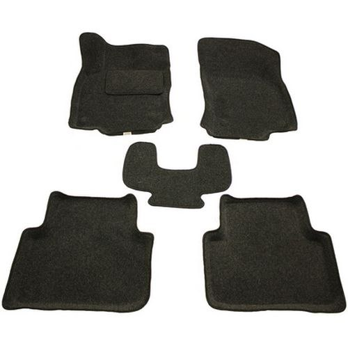 3D carpet BORATEX BRTX-1133 for Volkswagen Passat B8 2015-dark gray цена