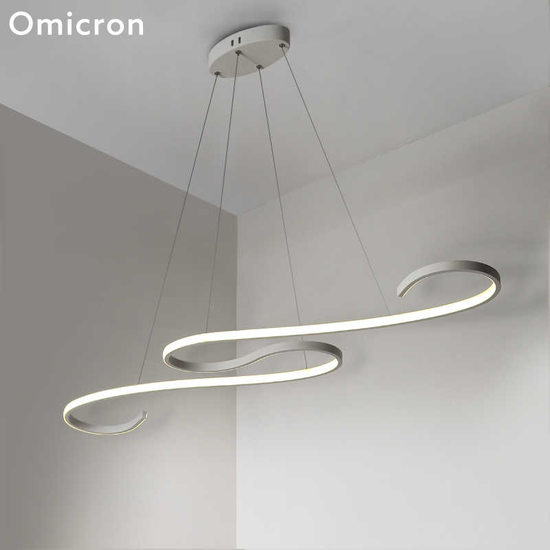 Omicron Modern Led Chandeliers Ceiling Led Water Wave Originality For Living Room Study Room Lighting Home Fixtures Lamp