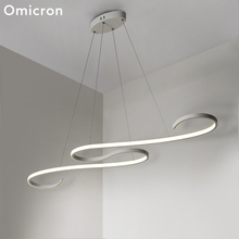 Omicron Modern Led Chandeliers Ceiling Water Wave Originality For Living Room Study Lighting Home Fixtures Lamp