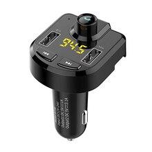 лучшая цена Car Charger FM Transmitter Aux Modulator Bluetooth Handsfree Car Audio MP3 Player 3.1A Fast Dual USB Mobile Phone Charger