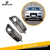 ABS Fog lamp grille For Audi Q5 S Line SQ5 Sport 2014 2017 4 Door Front Bumper Grill ABS fog light box