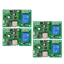 2 個の 5 個の無線 Lan スイッチ eWeLink DC5V 12 V 24 V 32 V スマートホームオートメーションモジュール電話 app リモコンタイマースイッチ音声制御