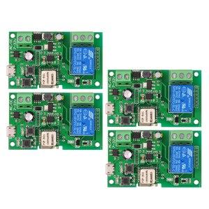 Image 1 - 2 pièces 5 pièces Wifi commutateur eWeLink DC5V 12 V 24 V 32 V Modules domotique intelligente téléphone APP télécommande minuterie interrupteur commande vocale