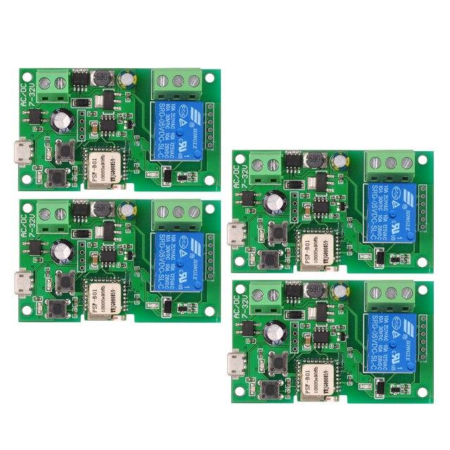 2 pièces 5 pièces Wifi commutateur eWeLink DC5V 12 V 24 V 32 V Modules domotique intelligente téléphone APP télécommande minuterie interrupteur commande vocale
