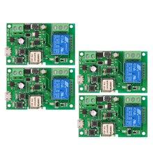 2 sztuk 5 sztuk przełącznik Wifi eWeLink DC5V 12 V 24 V 32 V inteligentne moduły automatyki domowej telefon APP zdalne zegar sterujący przełącznik sterowania głosem