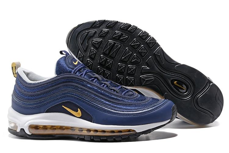 Authentique NIKE Air Max 97 Hommes de chaussures de course Confortable baskets respirantes Sport En Plein Air Limitée Airmax 97 chaussures pour hommes