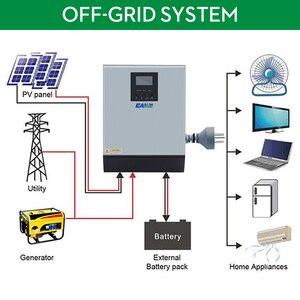 Image 2 - EASUN güç 3KVA güneş invertör 2400W 24V 220V hibrid invertör saf sinüs dalgası dahili MPPT güneş şarj kontrol cihazı pil şarj cihazı