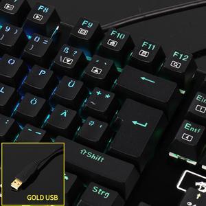 Image 4 - Redragon K556 German Layout Mechanical Gaming Wired Keyboard Brown Switch RGB LED Backlit 104 Standard Keys for Gamer Office