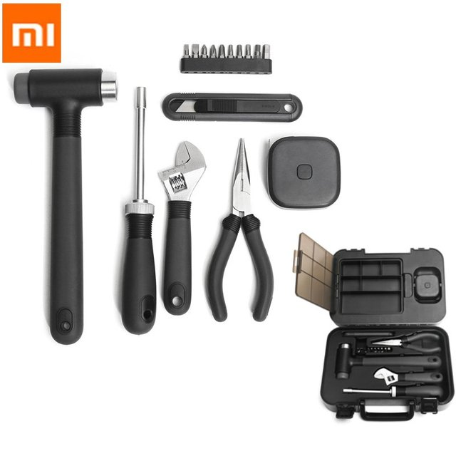 XIAOMI MIIIW DIY Tool Kit General Household Hand Tool with Screwdriver Wrench Hammer Ruler Tool Box