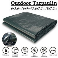 Newest 6x9m/6x3.6m/3.6x7.3m/7.3x9mOutdoor Snow protection Waterproof Camping Tarpaulin Field Camp Tent Cover Car Cover Canopy