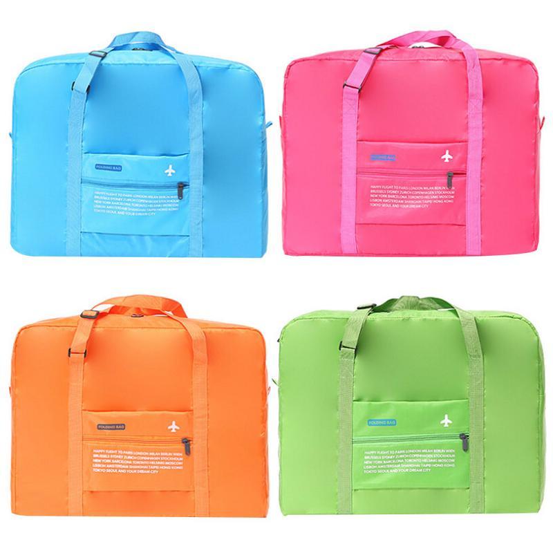 Foldable Korean Travel Duffle Totes Bag Large Big Travelling Nylon Bags Luggage For Women Men Organizer Suit Packing Bag Handbag недорго, оригинальная цена