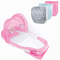 Baby folding Bed carry cot Kids Cradle night lights and music Crib Travel Bed For Children Infant Kids Cradle With mosquito net