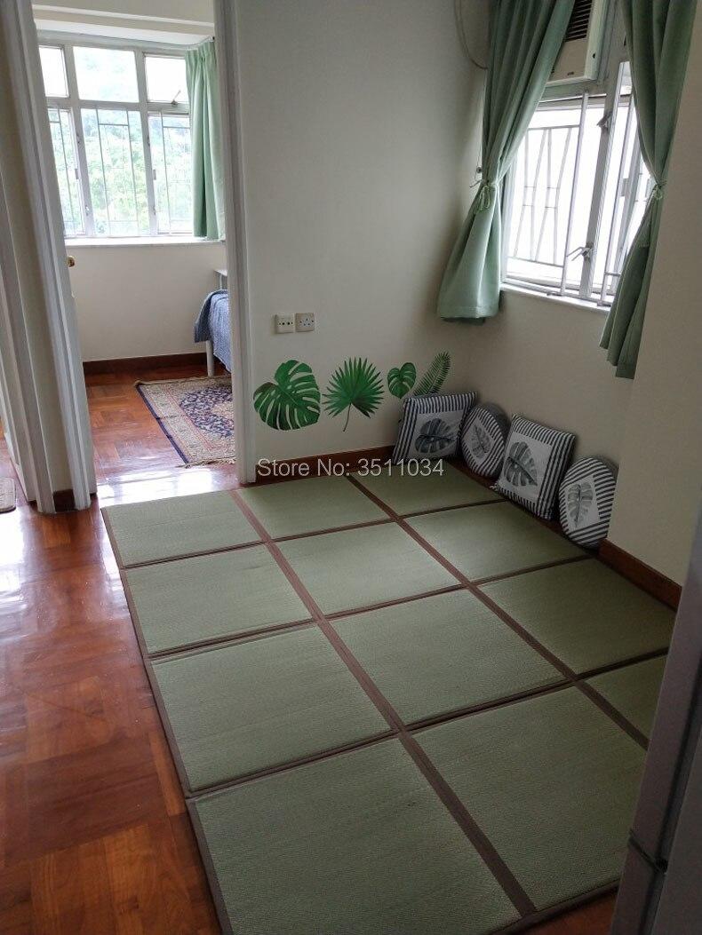 Japonais 12 MM épaisseur naturel jonc Tatami tapis Tatami tapis tapis de sol léger pour salon chambre matelas tapis de sol