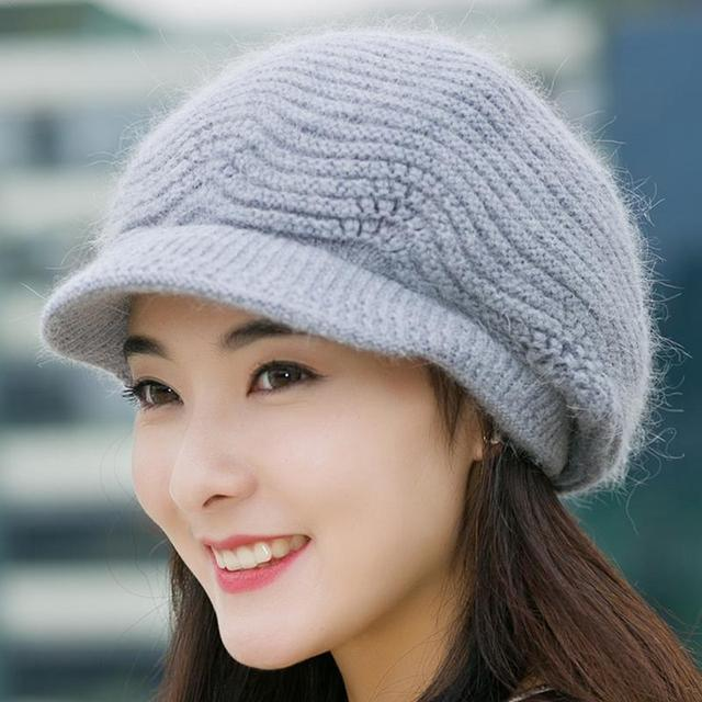 f950421030b72 2018 New Fashionable Women Knitted Berets Hats Casual Autumn Winter Hat  Female Bonnet Caps Boina Feminino