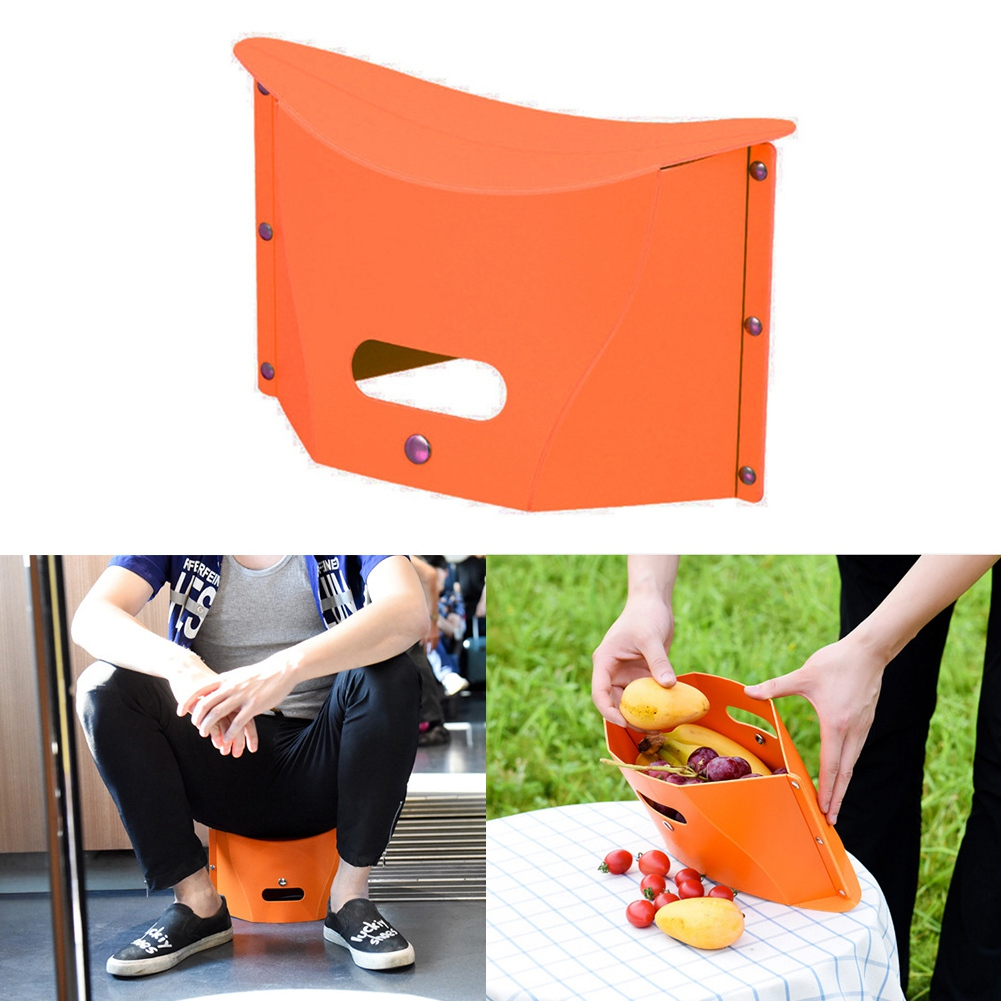 SEWS-Folding Kids Adults Stool Chair Seat Ultralight Fishing PP Camping Portable Hiking