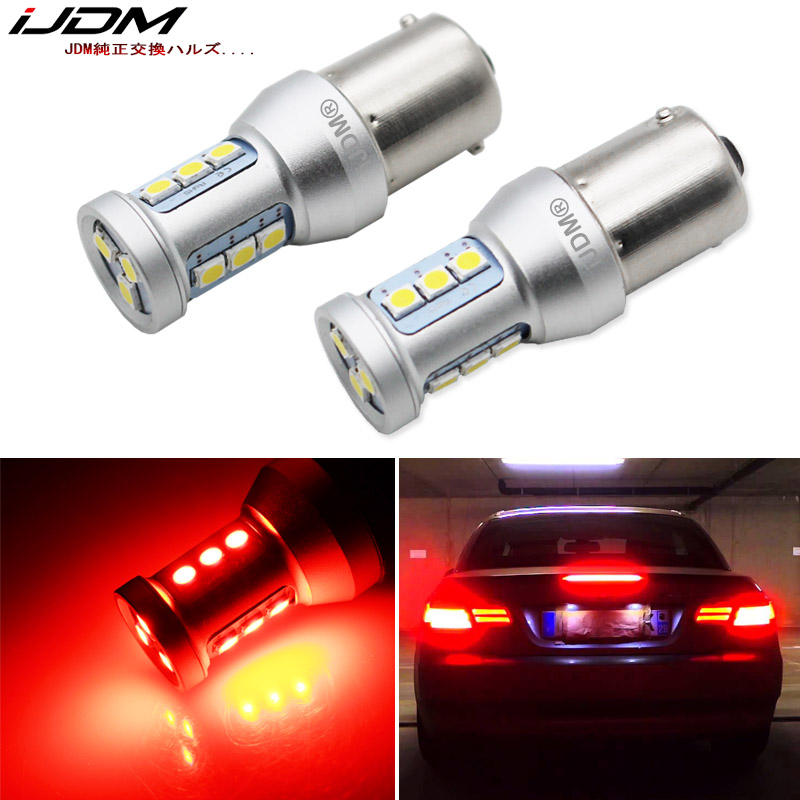 LED 5050 Light Red 168 Two Bulbs License Plate Replace Lamp OE SMD JDM Show