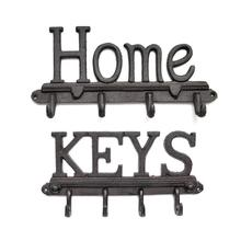 4 Hooks Cast Iron Key Rack Clothes Rack Robe Key Holder HOME Wall Mounted Hat Hanger Kitchen Bathroom Wall Home Decoration