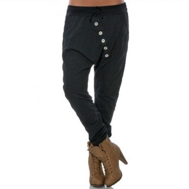 2019 Fashion Casual Loose Women Streetwear   Pants   Fitness Full Length Harem   Pants   Solid Elastic Waist Female Sweatpants