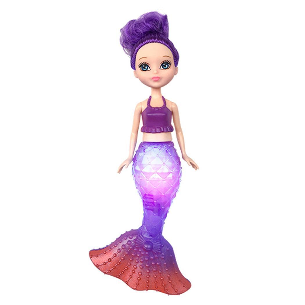 Flash Led Light Swimming Mermaid Princess Educational Doll -8899