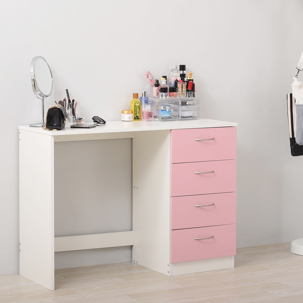 Panana Bedroom make up Table Computer Desk Office Workstation Laptop PC Table with 3 Drawer Cabinet image