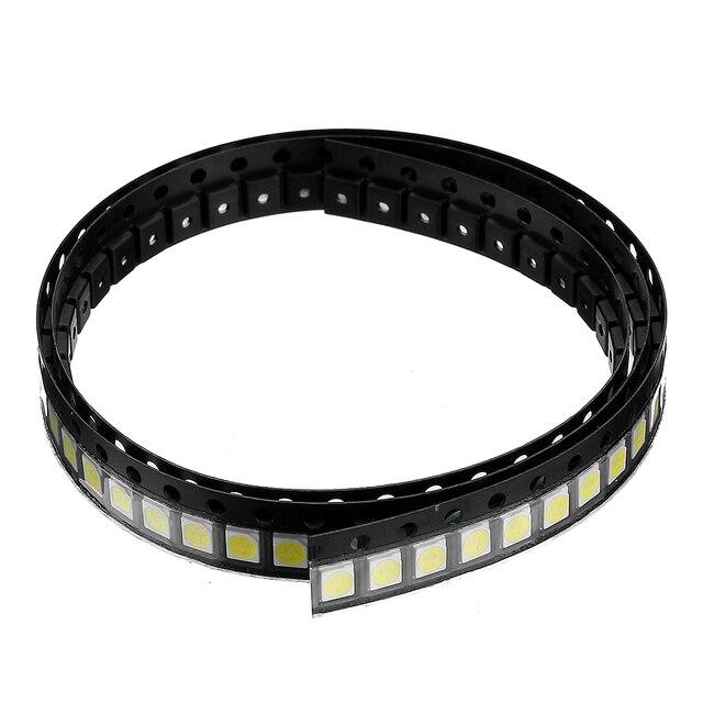 CLAITE 100PCS 1W White SMD 3528 SMT LED Lamp Beads for Strip Light