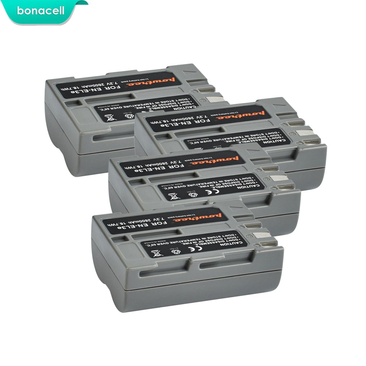 Bonacell 2600mAh EN-EL3e EN EL3e EL3a ENEL3e Digital Camera Battery for Nikon D300S D300 D100 D200 D700 D70S D80 D90 D50 L15Bonacell 2600mAh EN-EL3e EN EL3e EL3a ENEL3e Digital Camera Battery for Nikon D300S D300 D100 D200 D700 D70S D80 D90 D50 L15
