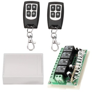 Image 2 - Wireless Remote Control RF Switch 433mhz DC 12V 4CH 4 Channel Wireless Remote Control Switch Relay Receiver Module Transmitter